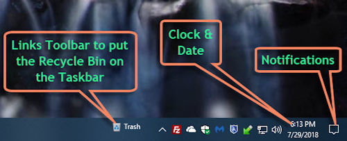 Taskbar right side